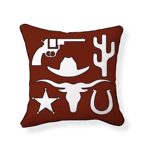 Naked Decor Cowboy Double Sided Cotton Pillow