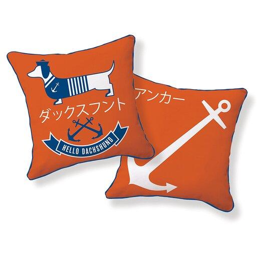 Naked decor hello dachshund sailor pillow japan dachshund