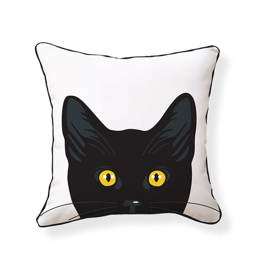 Naked Decor Yellow Eyes Cat Pillow