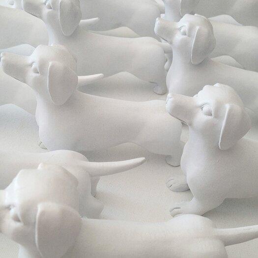 Naked Decor 2 Piece Modern Mini Dachshund Figurine Set