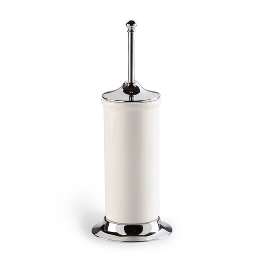 Stilhaus by Nameeks Idra Free Standing Toilet Brush Holder with Base in Chrome