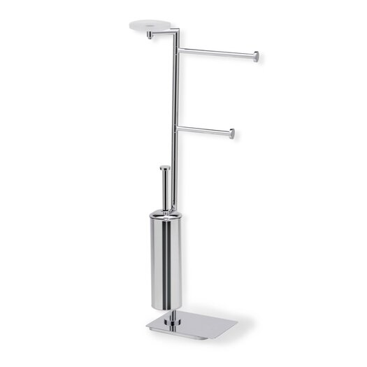 Stilhaus by Nameeks Medea Free Standing Four Function Bathroom Butler in Chrome