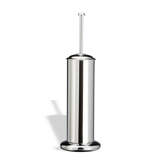 Stilhaus by Nameeks Pegaso Free Standing Rounded Toilet Brush Holder in Chrome