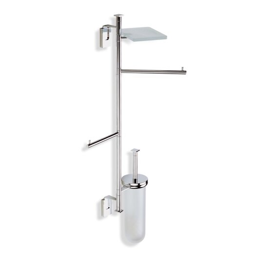 Stilhaus by Nameeks Quid Wall Mounted Four Function Bathroom Butler in Chrome