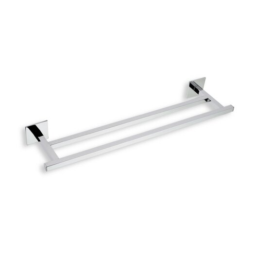 """Stilhaus by Nameeks Urania 12"""" Wall Mounted Double Towel Bar"""