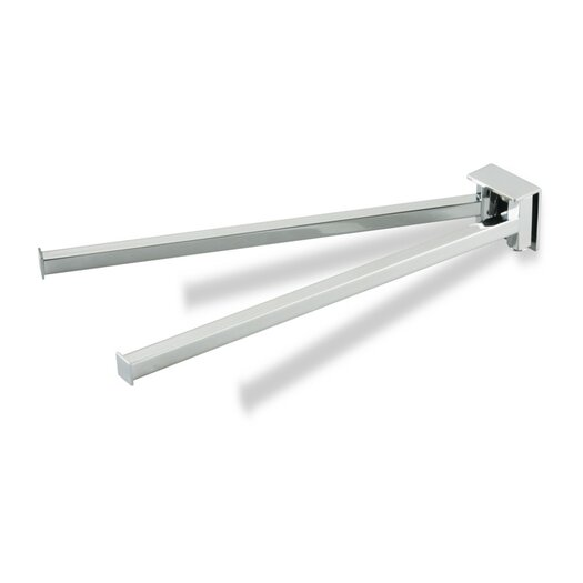 """Stilhaus by Nameeks Urania 13"""" Wall Mounted Swivel Double Towel Bar"""