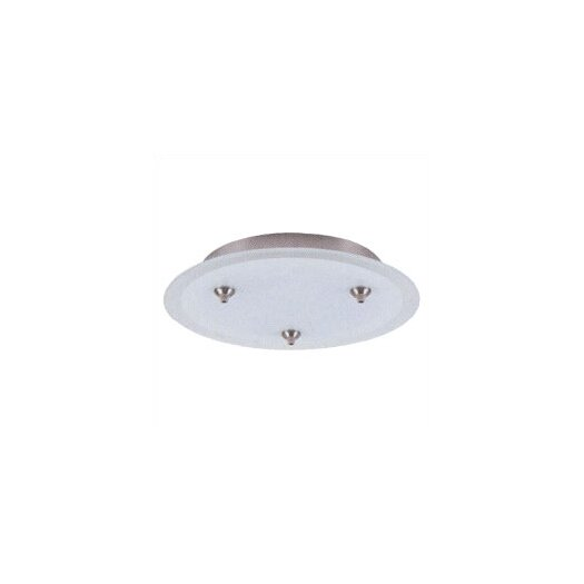 LBL Lighting 24V Fusion Jack Three Port Round Canopy in Satin Nickel