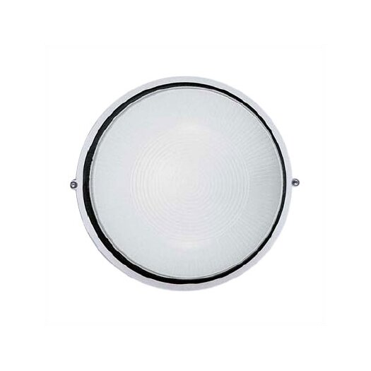 LBL Lighting Large Round Aluminum Bulkhead Wall/Ceiling Mounted Lamp