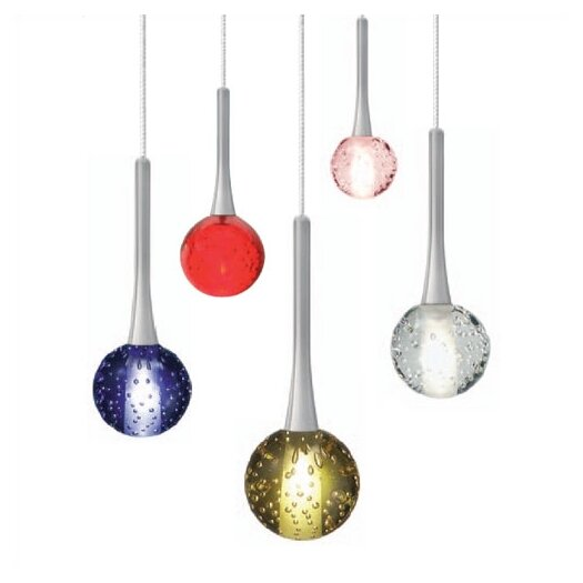 LBL Lighting Crystal Ball 1 Light Mini Pendant
