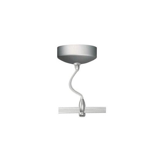 LBL Lighting LED Illuminated Monorail Surface Magnetic Transformer in Satin Nickel