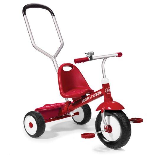 Radio Flyer Deluxe Steer & Stroll Tricycle