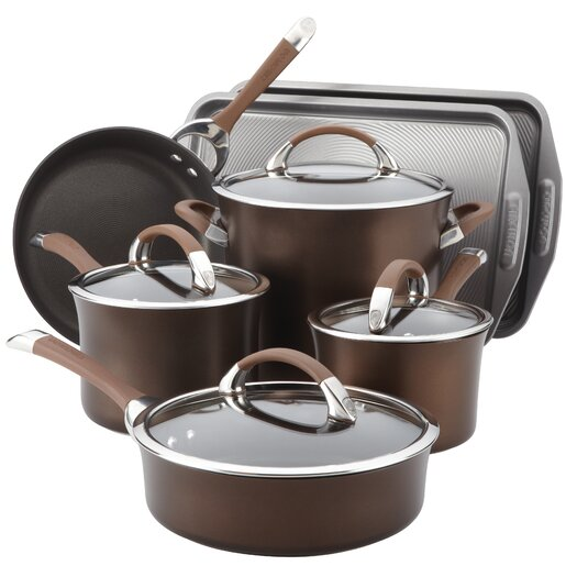 Circulon Symmetry Hard Anodized Nonstick 11 Piece Cookware and Bakeware Set