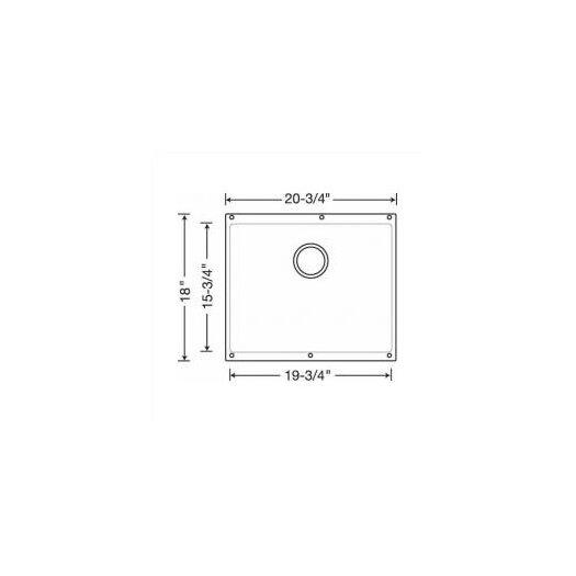 "Blanco Precis 20.87"" x 18.11"" Large Bowl Undermount Kitchen Sink"