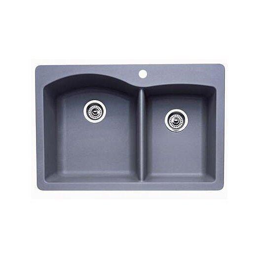 "Blanco Diamond 33"" x 22"" Bowl Drop-In Kitchen Sink"