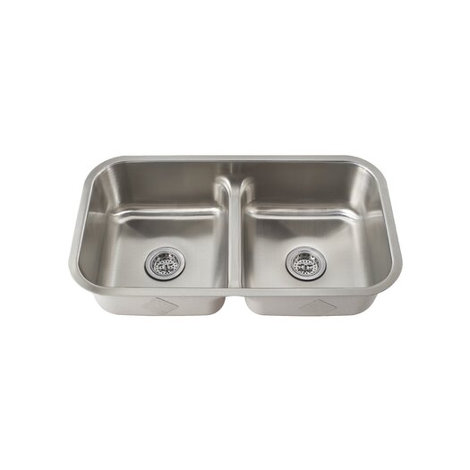 "Schon 19.5"" x 18.5"" Double Bowl Kitchen Sink"