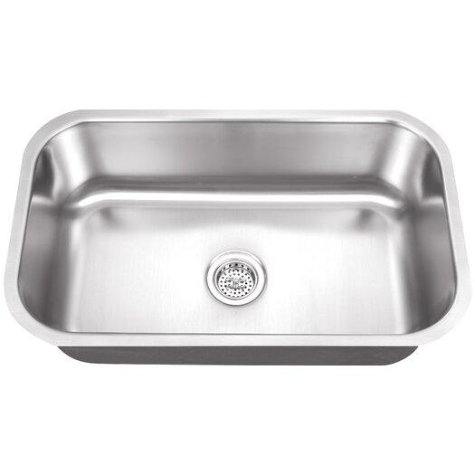 """Schon 30"""" x 19"""" Single Bowl Kitchen Sink"""