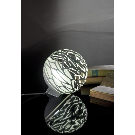 "Studio Italia Design Kelly Laser Cut Sphere 7.08"" H Table Lamp"