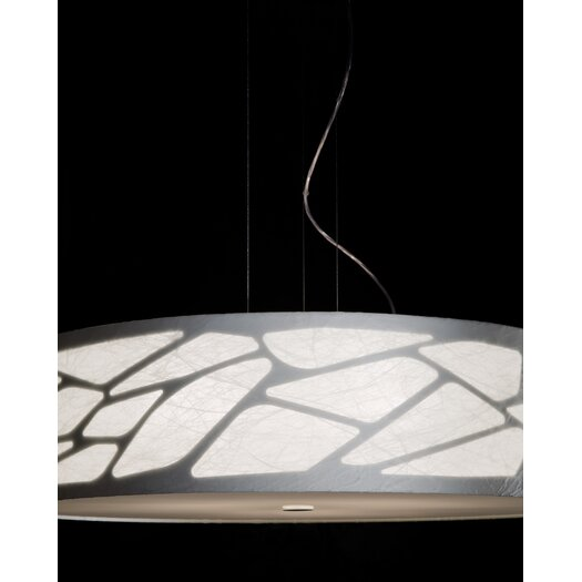 Studio Italia Design Grace Cylinder Pendant with Custom Fabric Diffuser