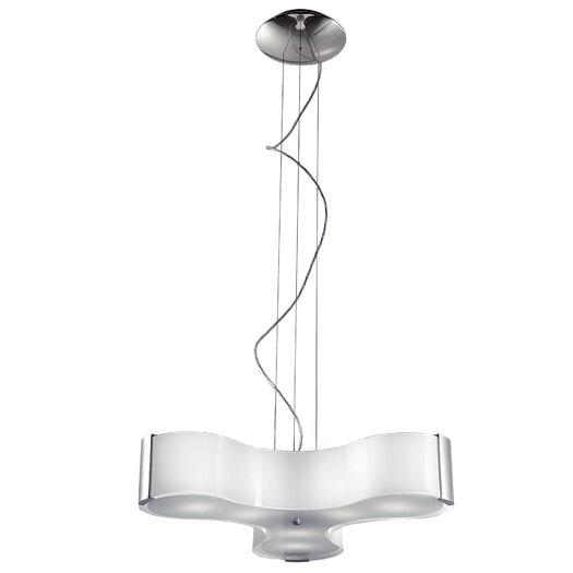 Studio Italia Design Tris 6 Light Pendant in Blown Glass with Sides
