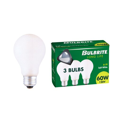 Bulbrite Industries 40W 130-Volt (2700K) Incandescent Light Bulb (Pack of 3)