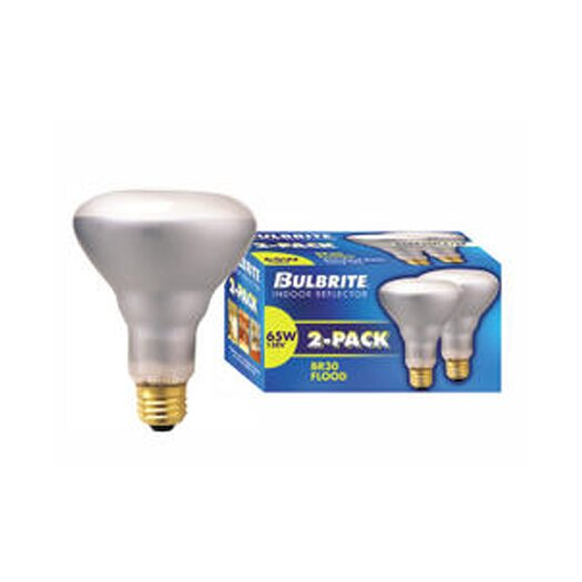 Bulbrite Industries 65W 130-Volt (2700K) Incandescent Light Bulb (Pack of 2)