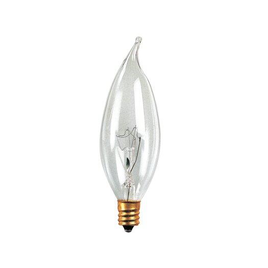 Bulbrite Industries Candelabra 60W 220-Volt (2700K) Incandescent Light Bulb