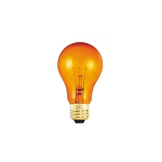 Bulbrite Industries 25W Orange 120-Volt Incandescent Light Bulb