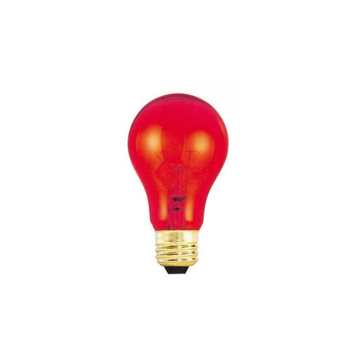 Bulbrite Industries 25W Red 120-Volt Incandescent Light Bulb