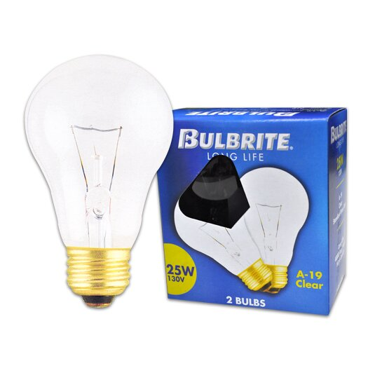 Bulbrite Industries 130-Volt (2700K) Incandescent Light Bulb (Pack of 2)