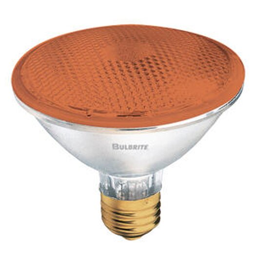 Bulbrite Industries 75W Amber 120-Volt Halogen Light Bulb