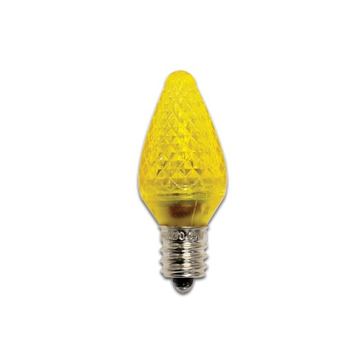 Bulbrite Industries 0.35W Yellow 120-Volt LED Light Bulb (Pack of 25)