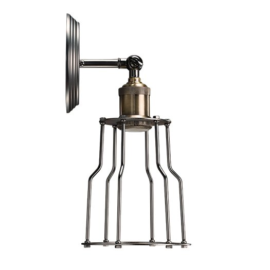 Bulbrite Industries Nostalgic Vintage 1 Light Wall Sconce with Industrial Cage
