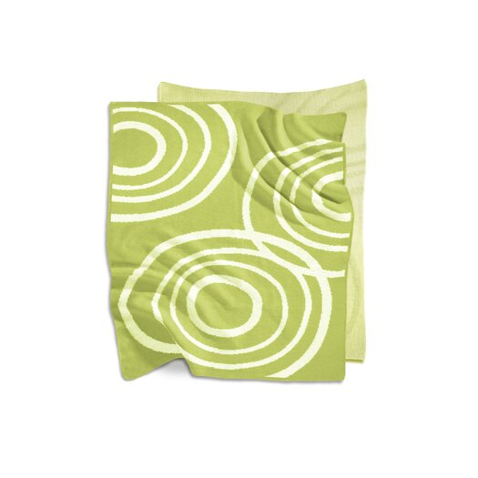 Nook Sleep Systems Organic Knit Blanket in Lawn Green