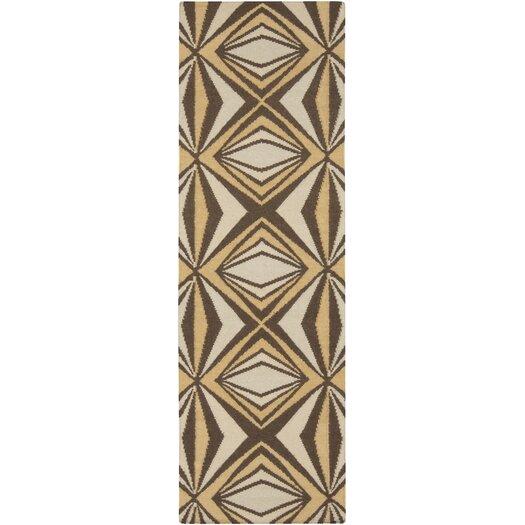 Voyages Gold/Multi Geometric Rug