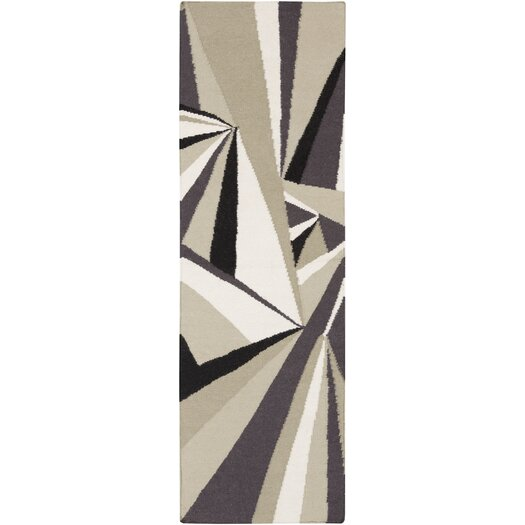 Voyages Gray/Multi Geometric Rug