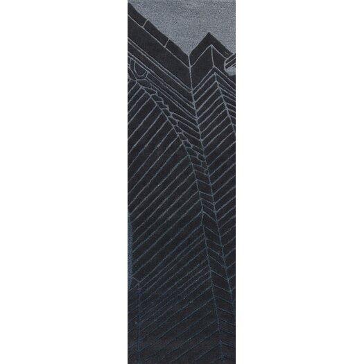 Destinations Coal Black/Light Gray Area Rug