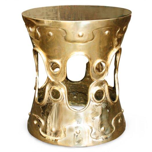 Brass Ulu Convex End Table