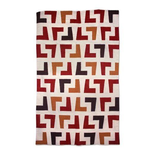 Jonathan Adler Arthur Kilim Red/Natural Area Rug