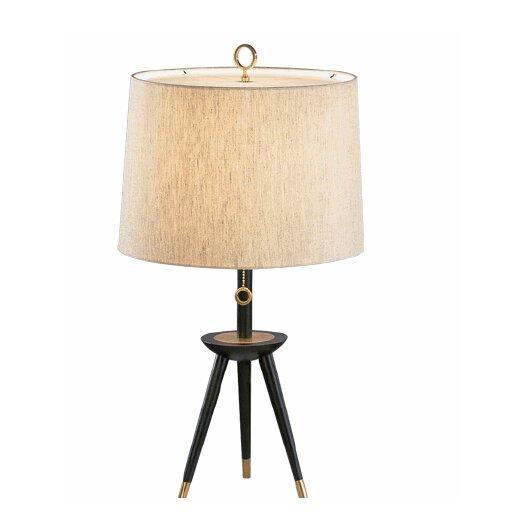 "Jonathan Adler Ventana Tripod 26"" H Table Lamp with Empire Shade"