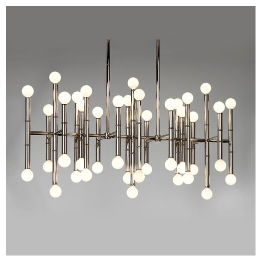 Jonathan Adler Meurice 42 Light Rectangular Chandelier