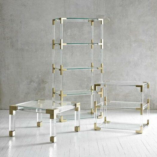 Jonathan Adler Jacques Lucite 2 Tier Table