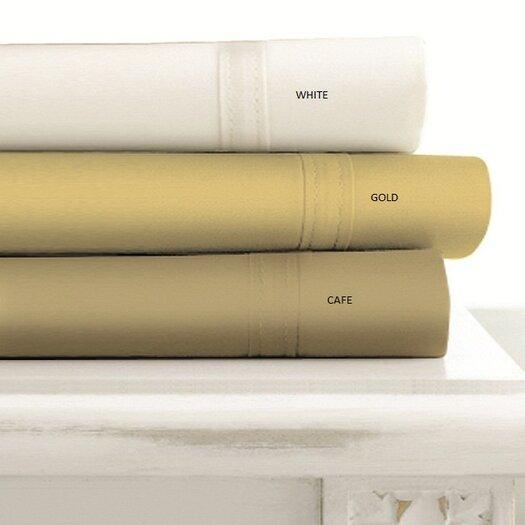 Tribeca Living 500 Thread Count 4-Piece Egyptian Cotton Cafe Sheet Set
