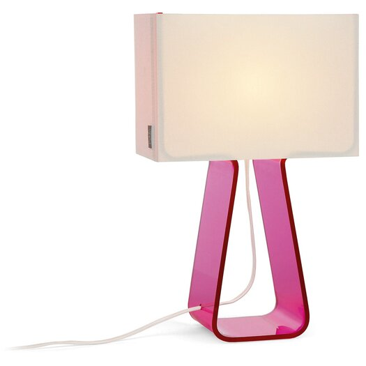 Pablo Designs Colorful Tube Top 14'' H Table Lamp with Rectangle Shade