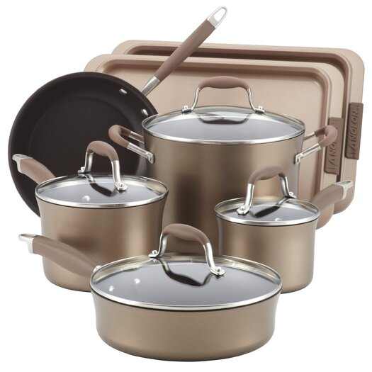 Anolon Advanced Hard Anodized Nonstick 11 Piece Cookware and Bakeware Set