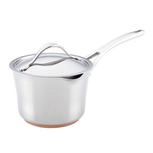 Anolon Nouvelle Copper 3.5-qt. Saucepan with Lid