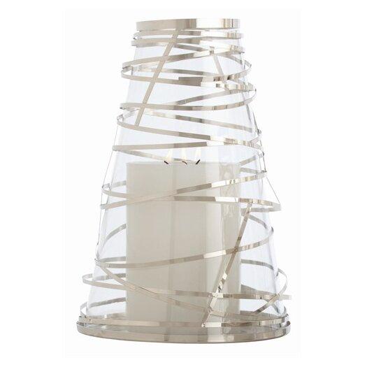 ARTERIORS Home Tory Steel Wrapped Glass Hurricane