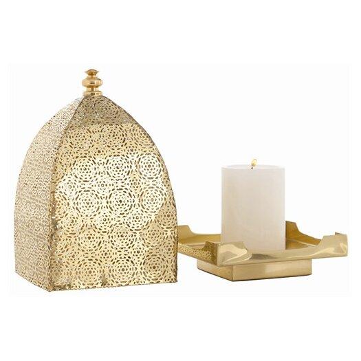 ARTERIORS Home Sullivan Polished Brass Perforated Lantern