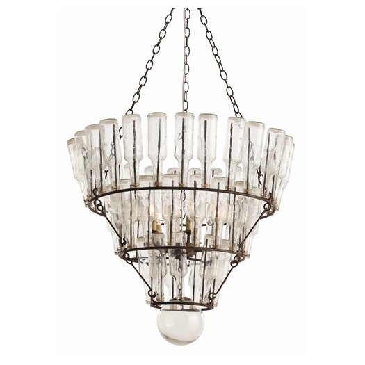 ARTERIORS Home Stedman 5 Light Iron / Glass Chandelier