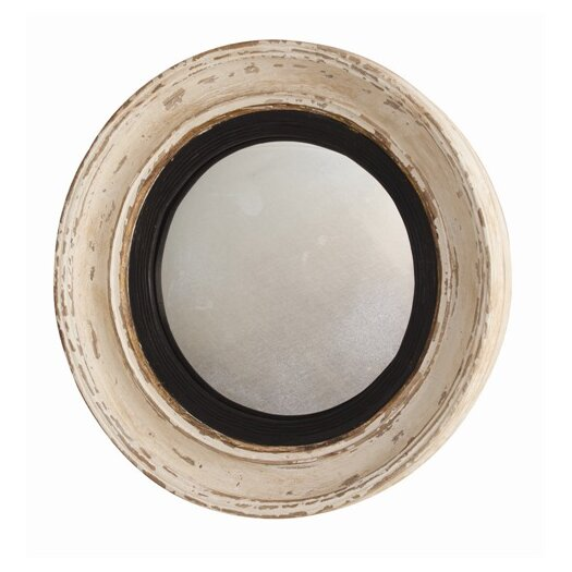 ARTERIORS Home Saintes Painted Hand Carved Convex Mirror