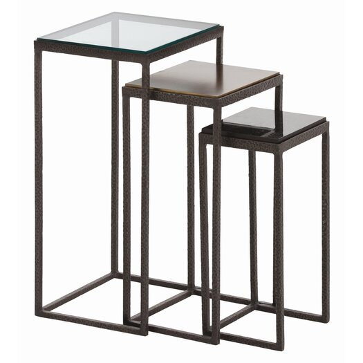 ARTERIORS Home Knight Waxed Hammered 3 Piece Nesting Table